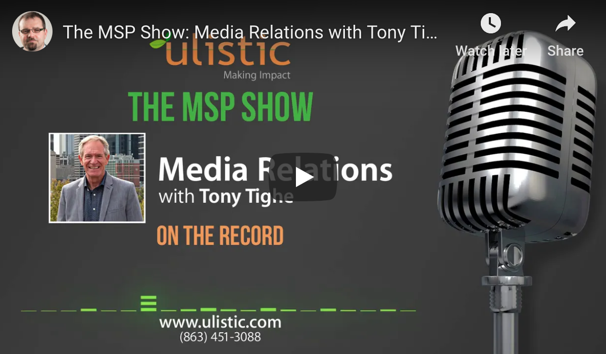 Tony Tighe Media PR