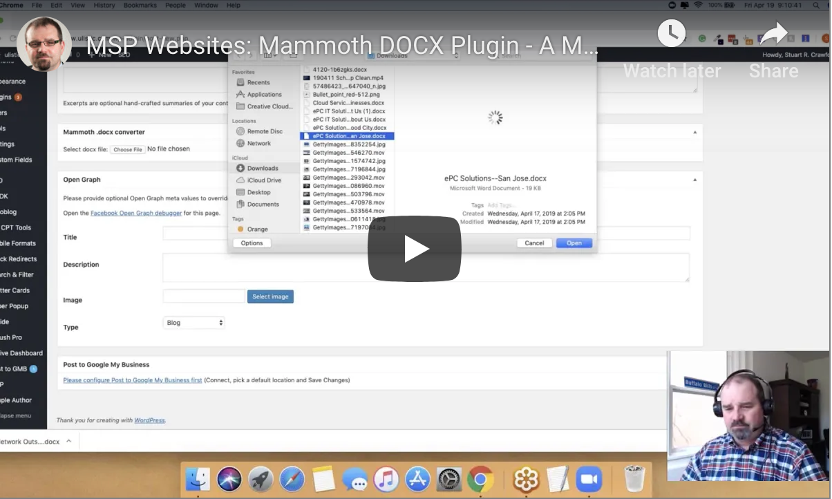Mammoth DOCX Wordpress
