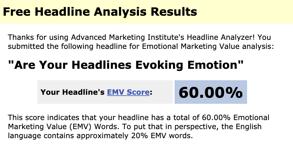 Online Headline Analyzer