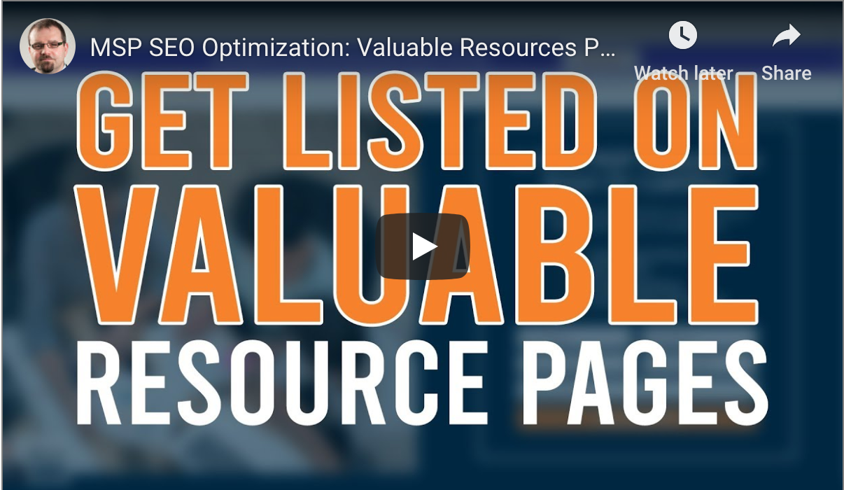 MSP SEO Strategy Using Resource Pages