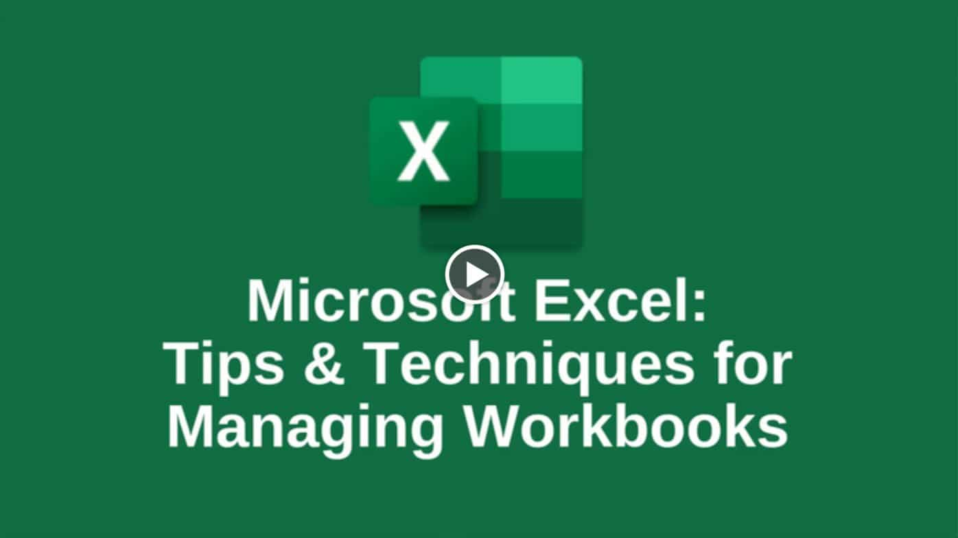 Managing Excel Workbooks