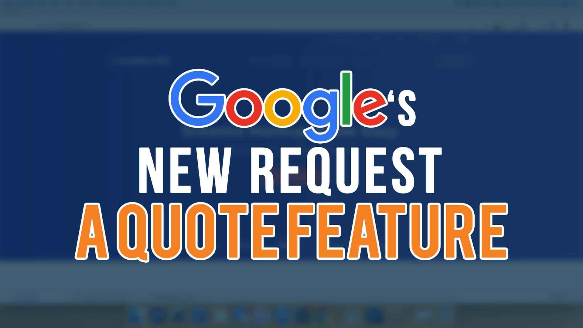 Google's New Request A Quote Feature