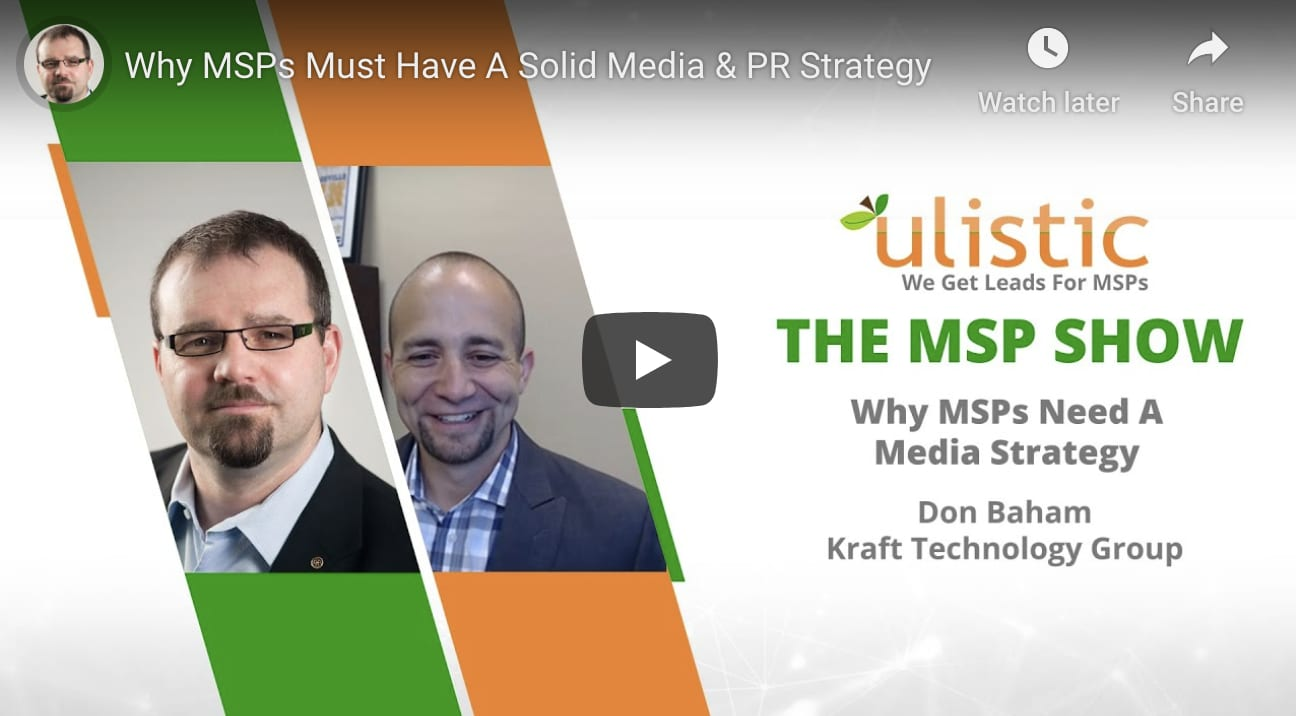 Media and PR strategies for MSPs