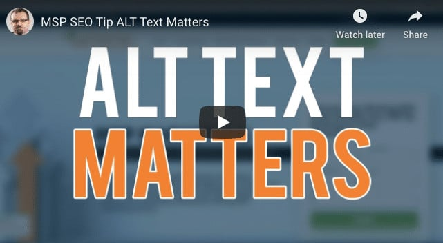 Alt Text Is Required For Effective SEO