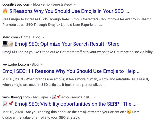 Emoji SEO Strategy