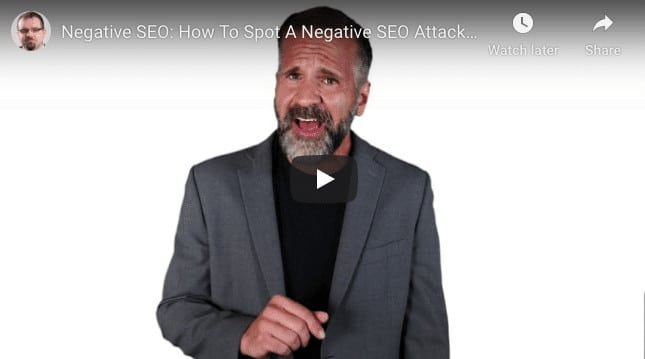 Negative SEO Attack