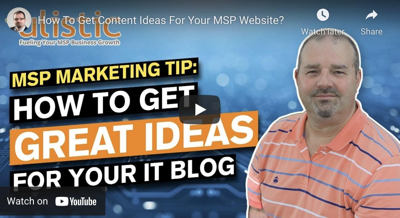 MSP Marketing Tips