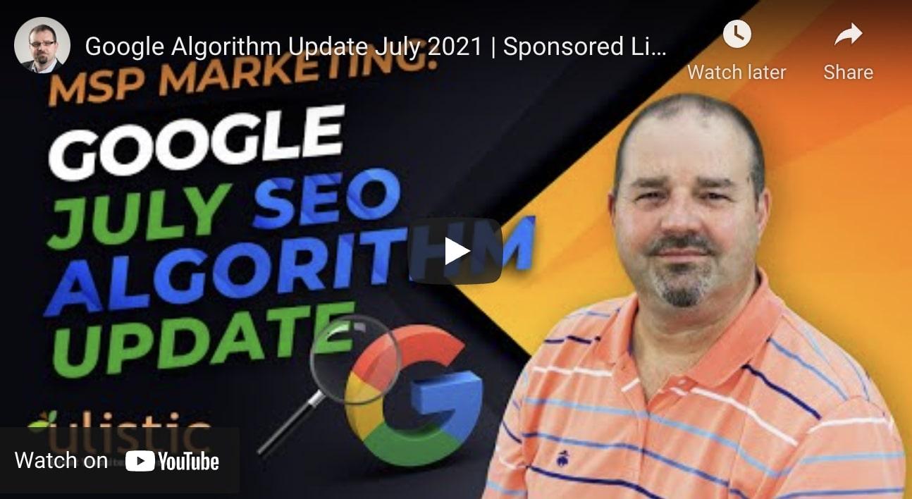 Google July 2021 SEO Update